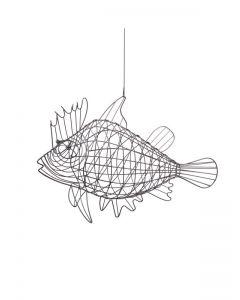 Draht-Fisch Marlin, grau