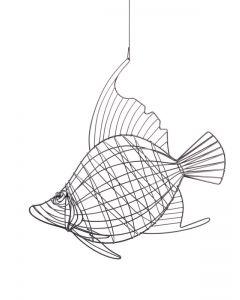Draht-Fisch Neptun, grau