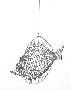 Draht-Fisch Bubbles, grau