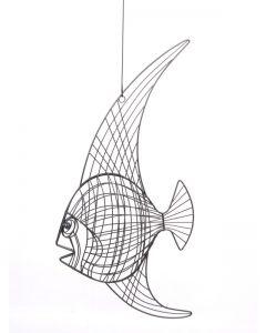 Draht-Fisch Nessi, groß, grau