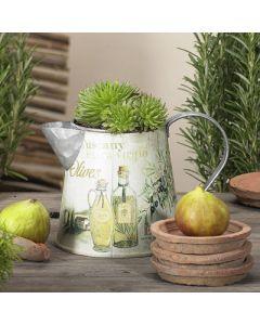 Dekogießkanne Olive, 12x17x12 cm,