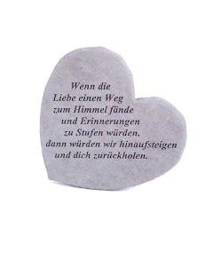 """Gedenkherz """"Wenn die Liebe..."""", Steinguss"""