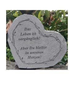 """Gedenkherz """"Das Leben ist..."""""""