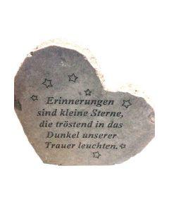 """Gedenkherz """"Erinnerungen sind..."""" Steinguss"""