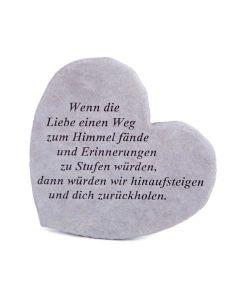 """Gedenkherz """"Wenn die Liebe..."""""""