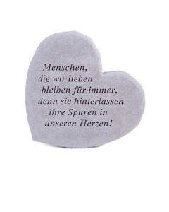 """Gedenkherz """"Menschen, die wir lieben..."""", Steingus"""