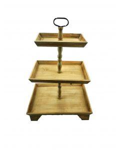 Holzetagere Soraja, 3 Ebenen