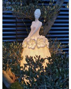 Blütenlicht Dame Amalia, mittel, Kunststein