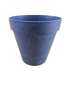 """Platiktopf """"Mila"""", rund konisch, matt blau"""