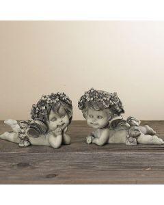 "Elfenpaar ""Lalula"", liegend, 2-fach sortiert,Resin"