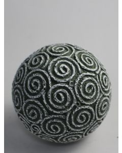 "Dekokugel ""Espiral"", grün/weiß, Resin"