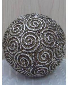 "Dekokugel ""Espiral"", silber/gold, Resin"