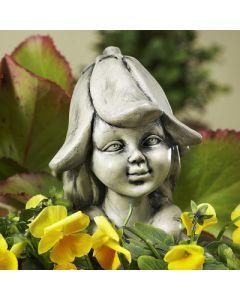 Blumenkind Glockenblume, Resin, betonfarben,