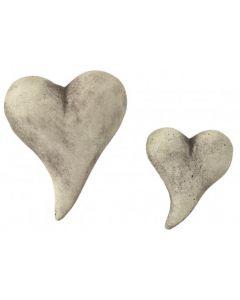 Knubbel-Herz aus Steinguss, klein