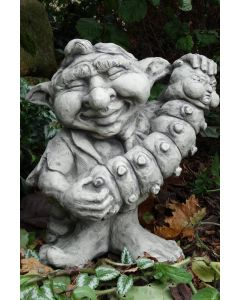 "Musiker-Troll ""Akkordeon"", Steinguss"