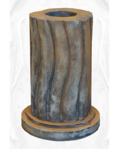 geschwungene Säule, rund, Rosteffekt (f. 116040)