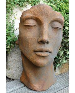 "Gesicht ""FRAU"", Steinguss, Edition Oxid, klein"