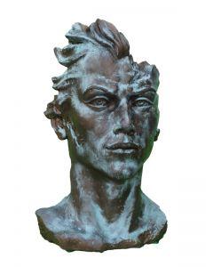 """Gesicht """"MANN"""" Steinguss, Bronze Effekt, mittel"""