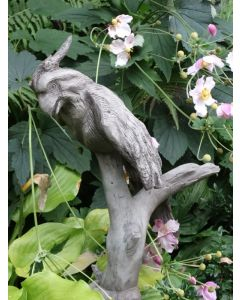 """Wesen der Lüfte """"Papagei"""", dunkler Steinguss"""