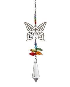 (8061-BUT-R) Phantasie-Kristall Regenbogen-Schmett