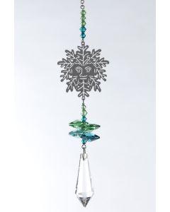 (8061-GRE) Phantasie-Kristall Blatt, mittel