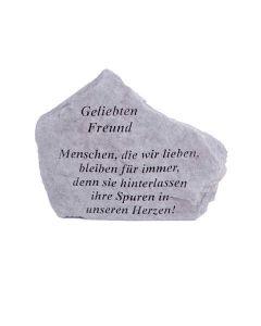 """Gedenktstein """"Geliebten Freund..."""", Steinguss"""