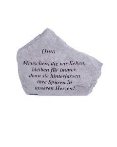 """Gedenkstein """"Oma..."""", Steinguss"""