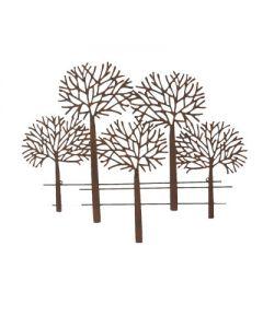 Wandbild Bäume Mata, Eisen, klein