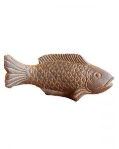 (P-FISH-025AF) Fisch auf kleinem Sockel, Steinguss