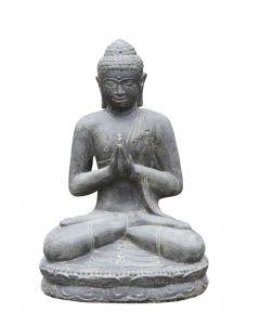 """(P-SB-060AAF) Sitzender Buddha""""Begrüßung"""", indisch"""