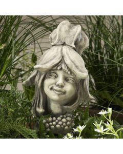 Blumenkind Abutilon, Mädchen, Betonguss,