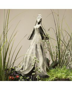 Blütentänzerin Magnolie, Betonguss, für Metallstäb