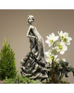 Blütentänzerin Mohn, Betonguss, für Metallstäbe