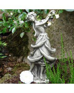 Blütentänzerin Rose, Betonguss, für Metallstab