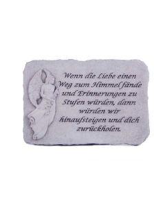 """Engelstein """"Wenn die Liebe einen..."""", Steinguss"""