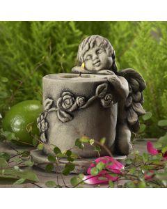 Teelichtengel Alimon, Betonguß,