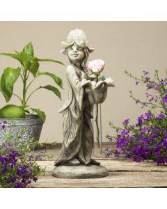 Vasenfigur Glockenblume Maritta, Betonguss,