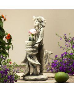 "Vasenfigur ""Schneeglöckchen Elisa"", Betonguss"