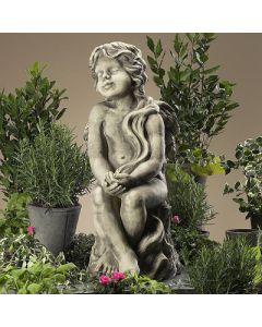 Engel Merilla, Betonguß, für Teelichter,