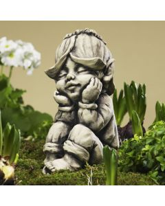"Blütentroll ""Goldlack"", Betonguss"