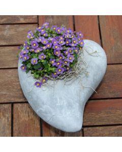 Gedenkherz zum bepflanzen, groß, Zementguss