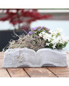 Gedenkbuch zum bepflanzen, offen, Zementguss