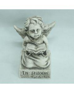 Engel mit Spruch, Zementguss