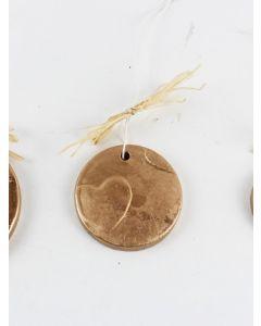 """Medaillon """"Herz"""", mittel, gold, Zementguss"""