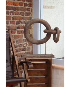 Holzobjekt Kette, drei Ringe