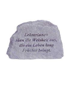 """Gedenkstein """"Lehrerinnen säen die..."""", Steinguss"""