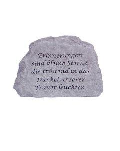 """Gedenkstein """"Erinnerungen sind kleine.."""", Steingus"""