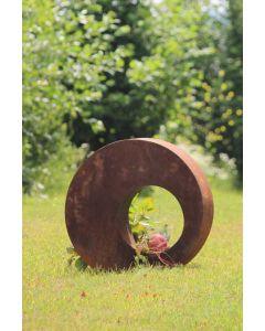 "Metallobjekt ""Kreis"" groß, mit Glas 0228, rost"