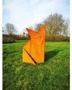 "Metall-Origami ""Fuchs"", groß, rostig"