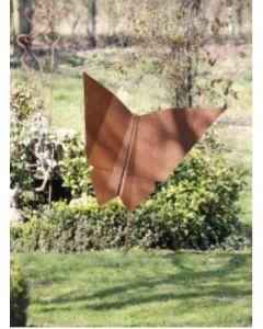 "Metall-Origami ""Schmetterling"", groß, rostig"